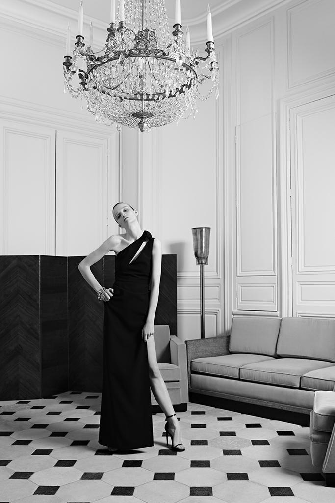 Вечернее платье от Saint Laurent