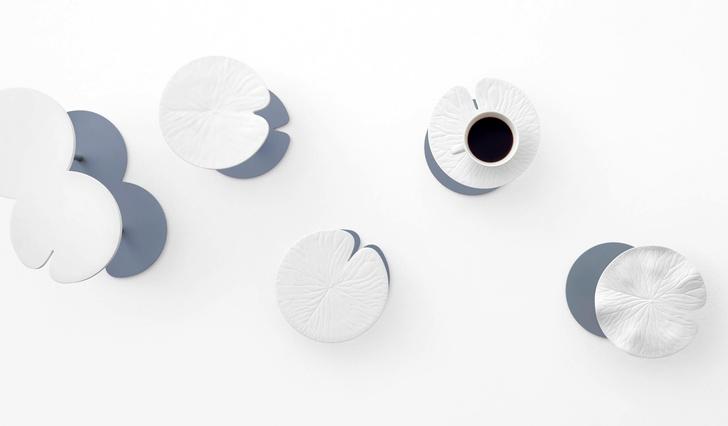 Белое братство: столики и цветы из Севрского фарфора от Nendo (фото 0)