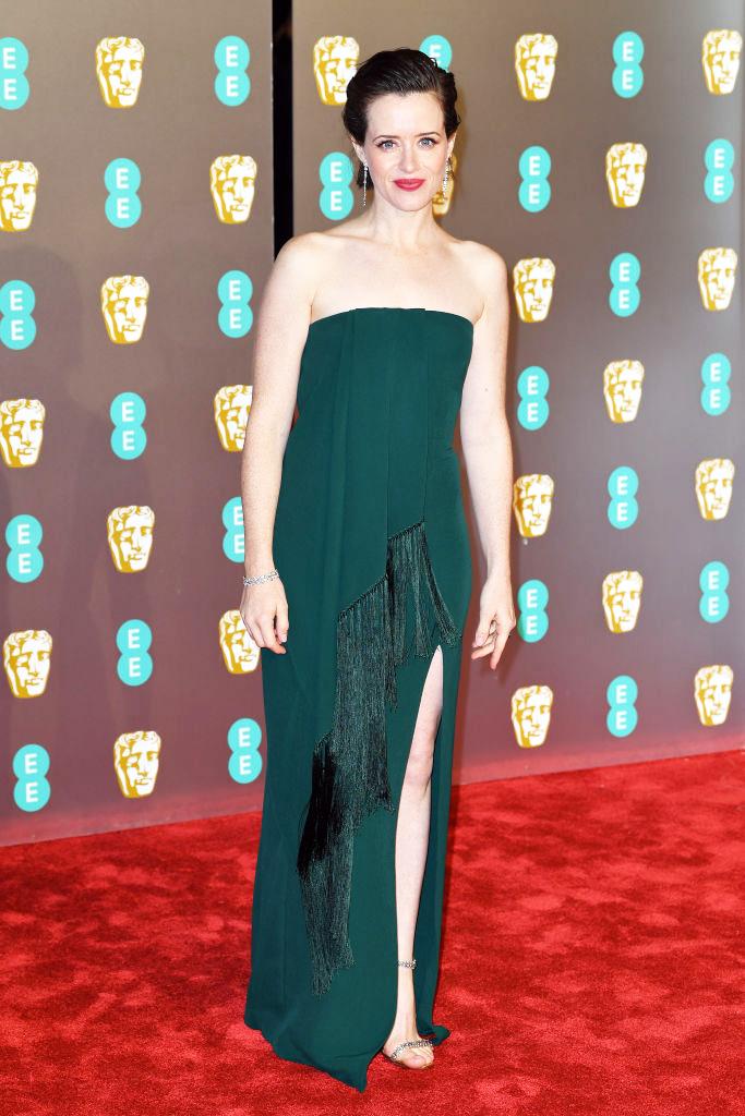 Королева: Клэр Фой в Oscar De La Renta на премии BAFTA-2019 (фото 2)
