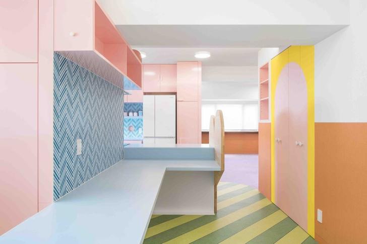 Все цвета радуги: квартира 160 м² в Токио (фото 6)