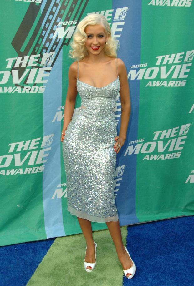 Кристина Агилера на церемонии MTV Movie Awards 2006