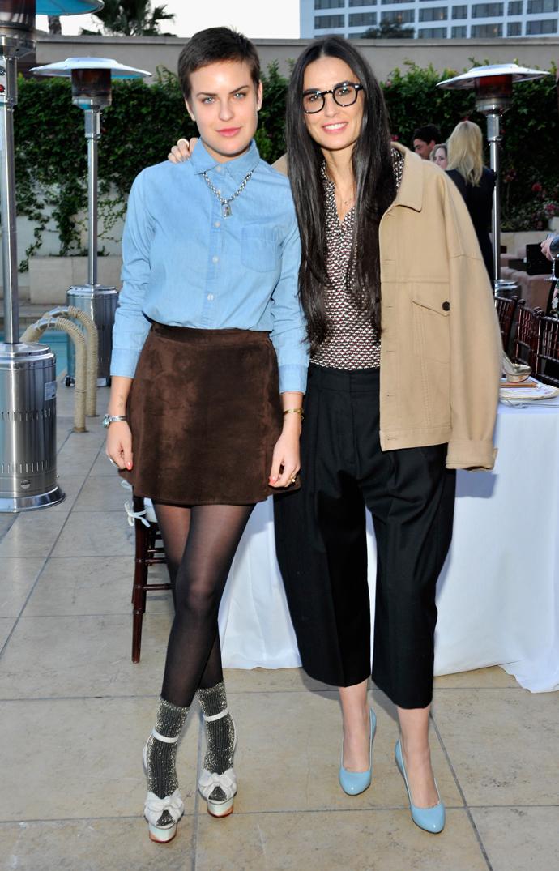 Деми Мур с дочерью Таллулой Уильямс