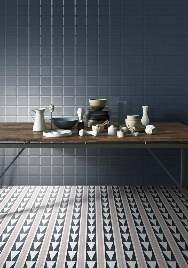 Керамическая плитка на кухне. Модные решения (фото 10)