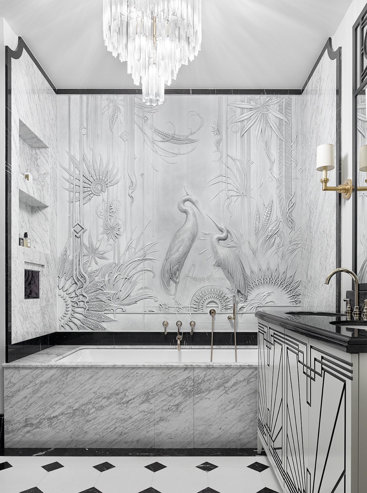 Мрамор в ванной комнате: 25 примеров (галерея 0, фото 1)