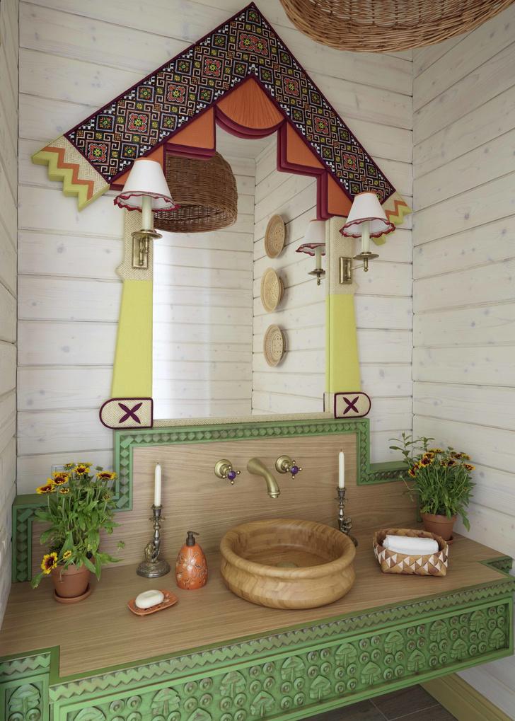 Печное действо: банный дом в Подмосковье (фото 16)