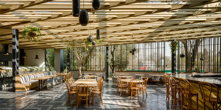 Дерево и стекло: современный ресторан в Мехико (фото 0)
