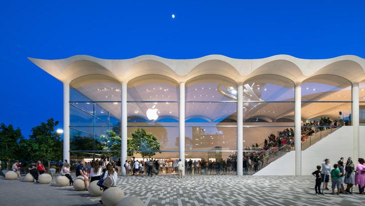 Новый бутик Apple в Майами по проекту Foster+Partners (фото 0)