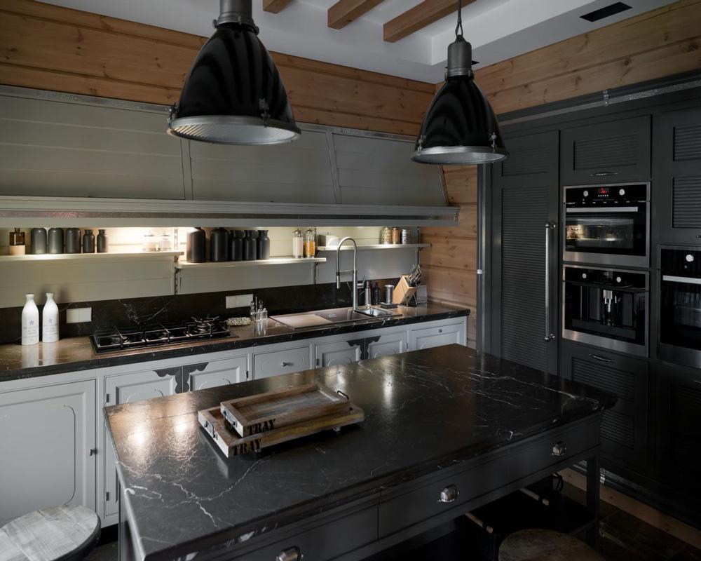 15 идей для кухни в темных тонах (галерея 0, фото 8)