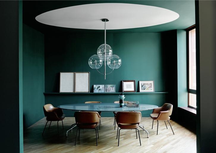 Миланская квартира в зеленых тонах (фото 2)