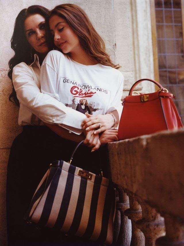Ген красоты: Кэтрин Зета-Джонс и ее дочь Кэрис в первой совместной съемке (фото 4)