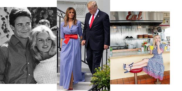 10 платьев в клетку виши как у Брижит Бардо,  Мелании Трамп и Риз Уизерспун (фото 1)