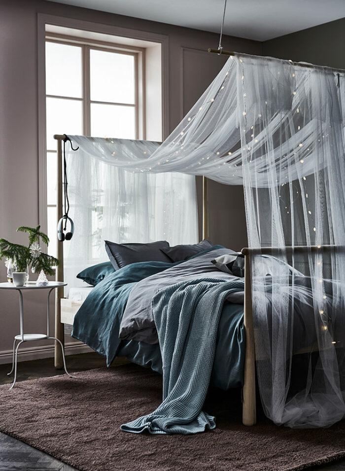 Зима, приходи! Новогоднее настроение в спальне (фото 11)