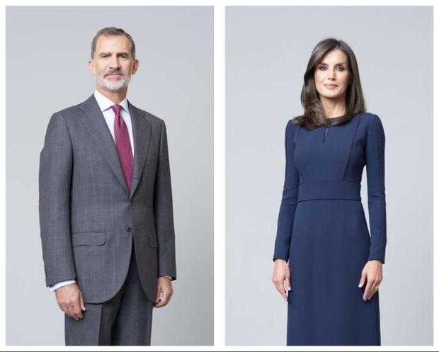 Платья-близнецы на новом официальном портрете королевы Летиции (фото 3)