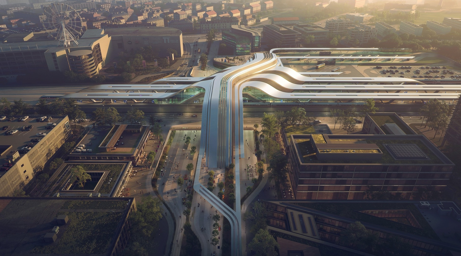 Zaha Hadid Architects построит в Таллинне мост-вокзал (галерея 8, фото 0)