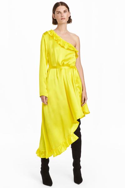 платья на новый год желтого цвета