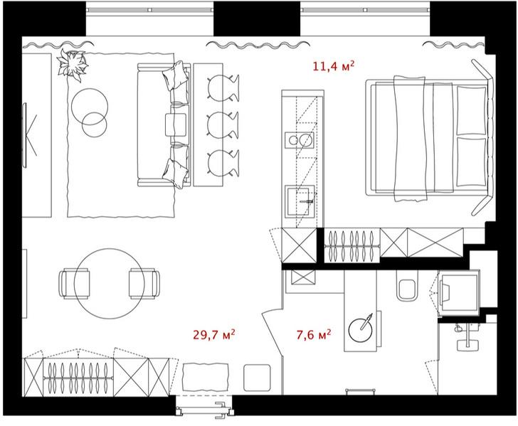 Первый план: все, что нужно знать о планировке маленьких квартир (фото 14)