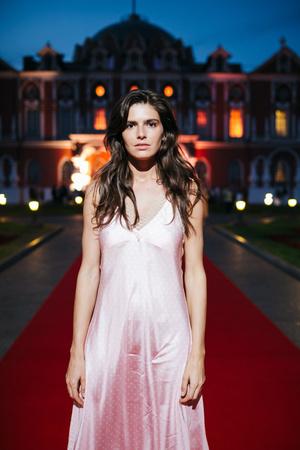 Даша Малыгина в платье-комбинации Walk Of Shame на вечеринке Moët Grand Day (фото 0.2)