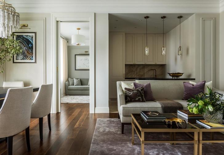 Московская квартира 83 м² в классическом стиле (фото 4)