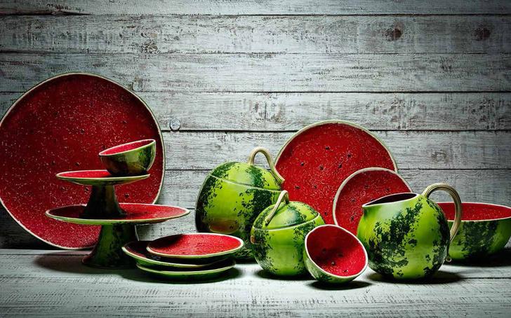 Топ 10: Праздник урожая. Овощи, фрукты и ягоды на предметах декора фото [17]