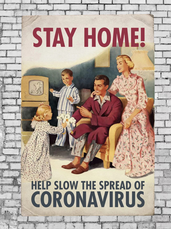 Дизайнеры против коронавируса: серия винтажных плакатов (фото 3)