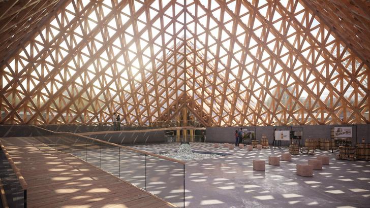 Вискарня в пирамидах по проекту Шигеру Бана (фото 6)