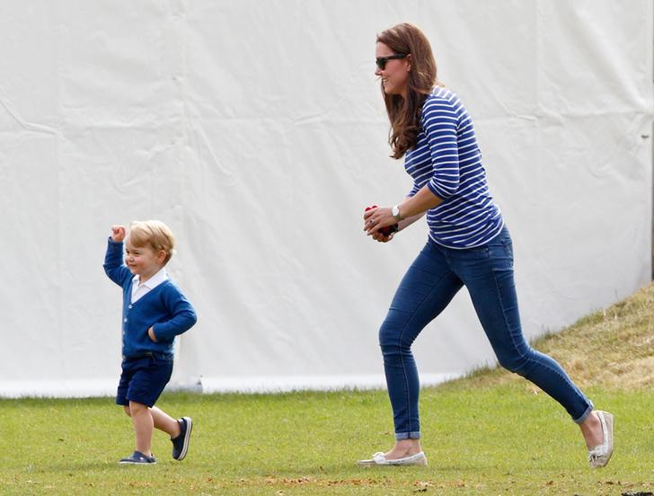 Герцогиня Кембриджская и принц Георг: фото