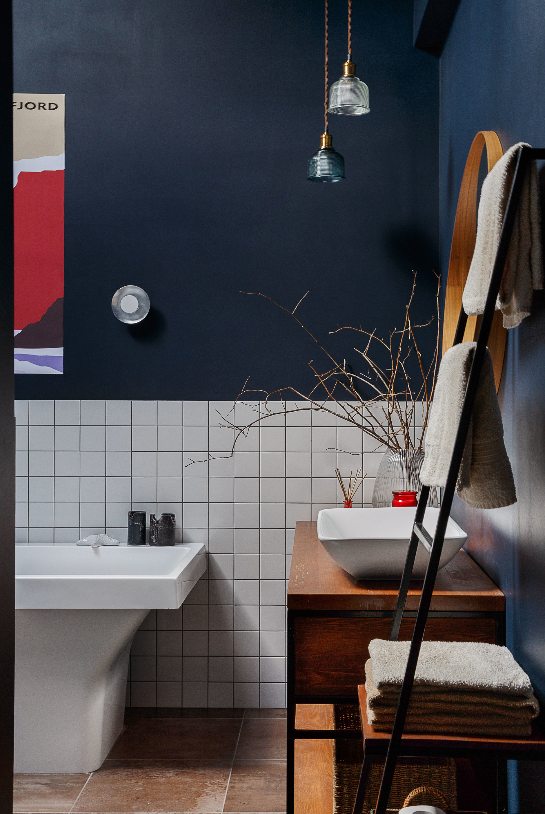Синяя ванная комната: 15 идей (галерея 1, фото 0)