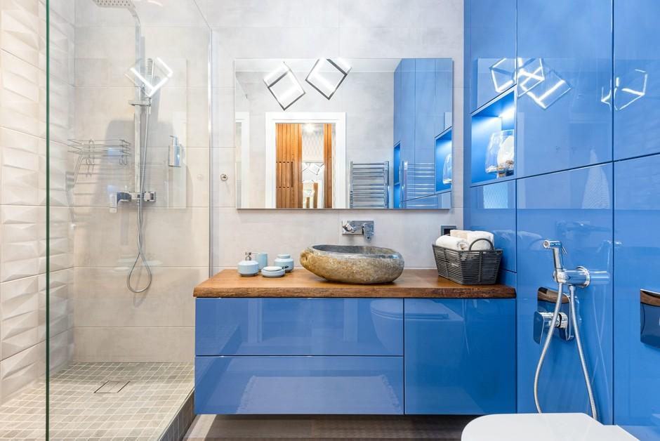 Синяя ванная комната: 15 идей (галерея 1, фото 1)