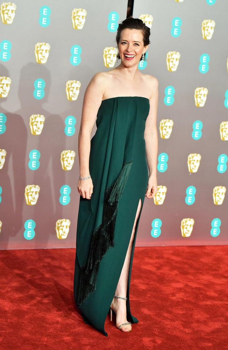 Королева: Клэр Фой в Oscar De La Renta на премии BAFTA-2019 (фото 1)