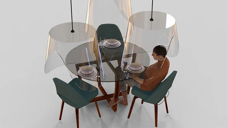 Дизайн против коронавируса: защитные экраны для ресторанов (фото 0)