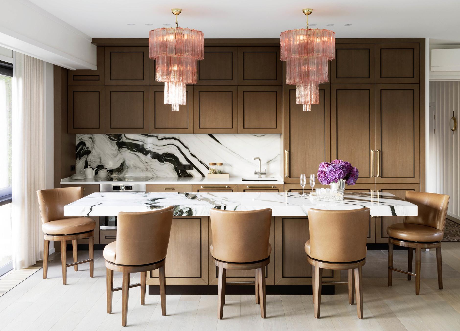 Кухня с деревянными фасадами: 25+ проектов (галерея 0, фото 2)