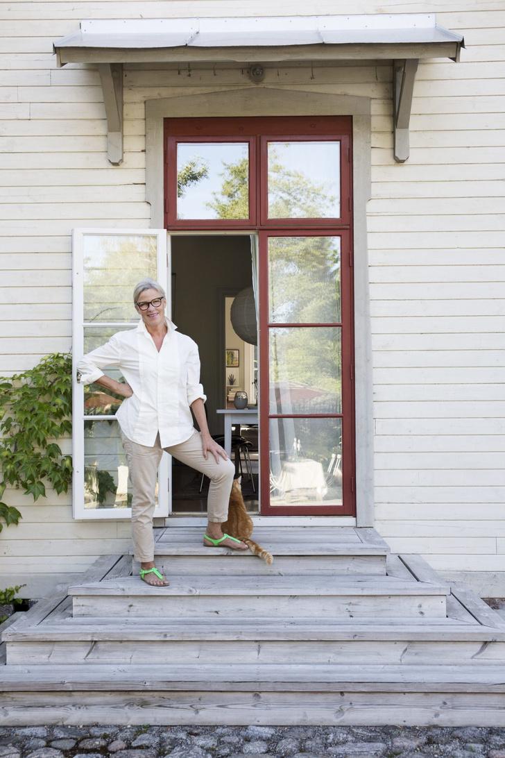 Голубая мечта: дом шведской художницы Гуннель Салин (фото 0)