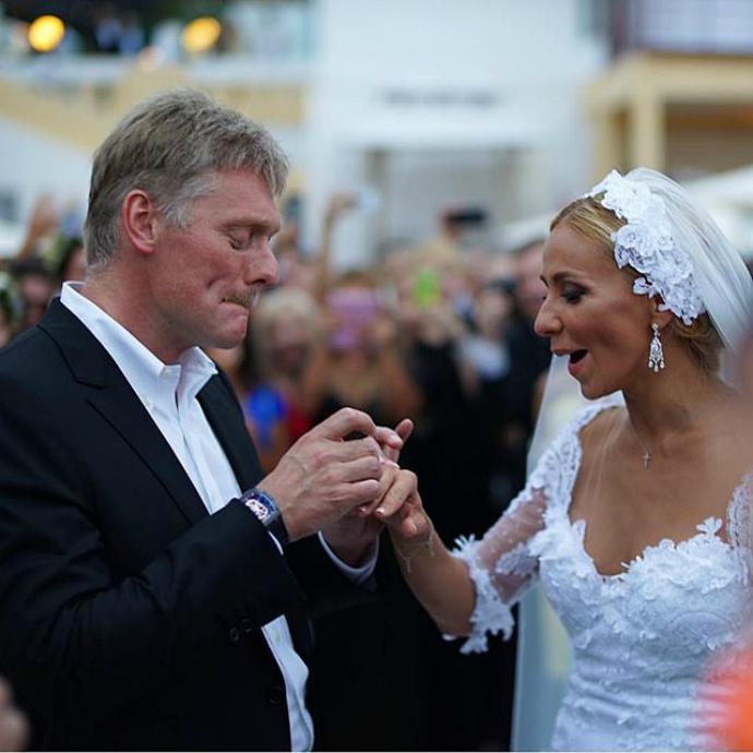 Свадебное фото Татьяны Навки и Дмитрия Пескова