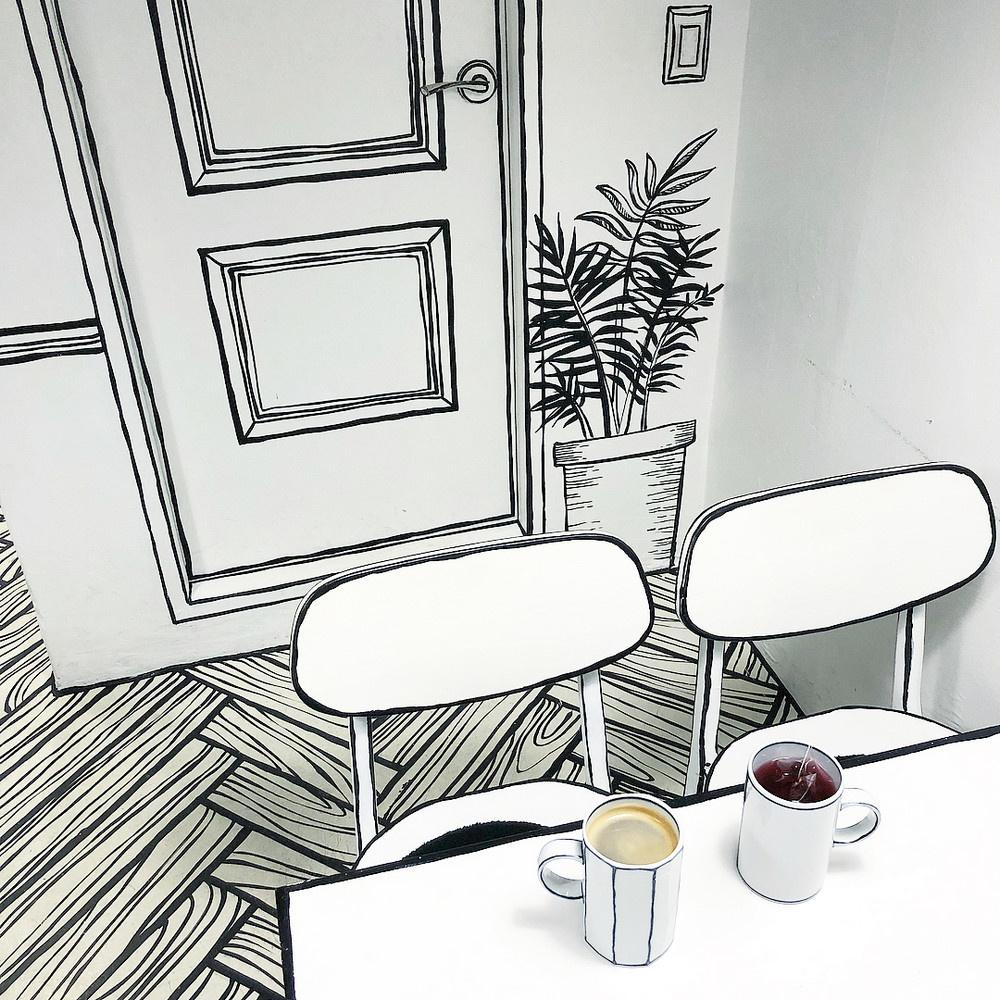 «Нарисованное» кафе в Сеуле (галерея 2, фото 3)