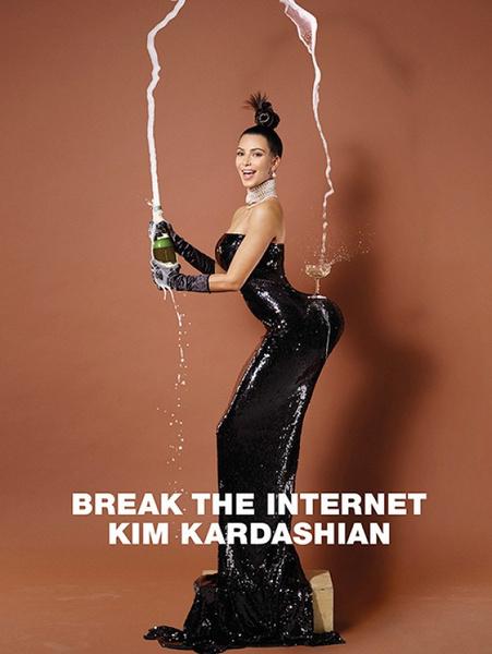 Ким Кардашьян разделась для обложки Paper