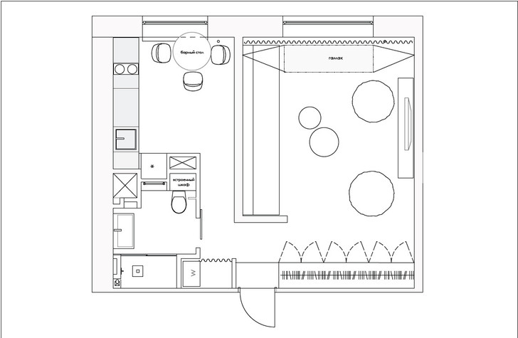 Квартира 40 м²: проект Анастасии Брандт (фото 14)
