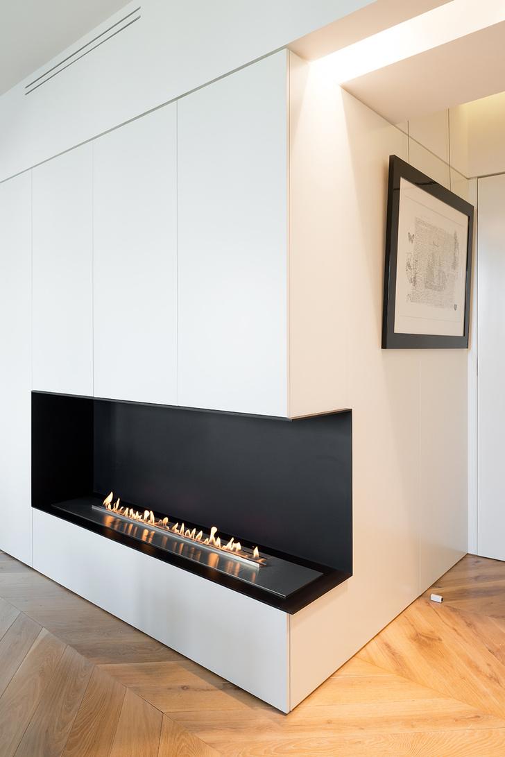 Московский минимализм: светлая квартира с деревянными ставнями (фото 4)