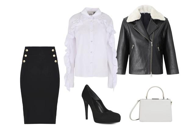 Эффект домино: как носить черные и белые вещи (фото 6)