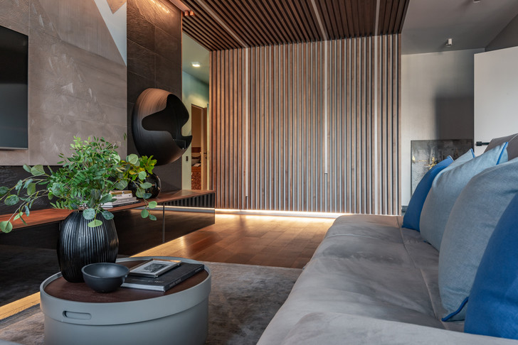 Современная квартира для холостяка 80 м² в Екатеринбурге (фото 11)