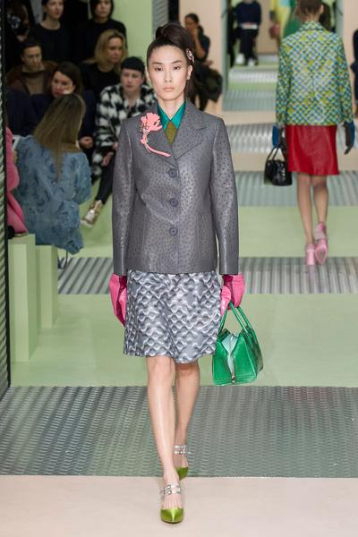 Показ Prada на Неделе моды в Милане | галерея [1] фото [9]