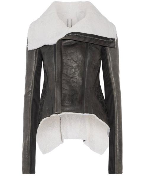 Зимние куртки из кожи с мехом 2018