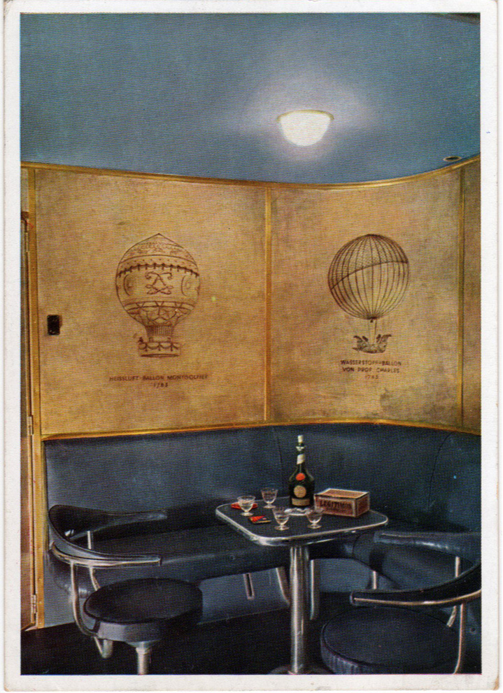 Интерьеры дирижабля «Гинденбург» (фото 18)
