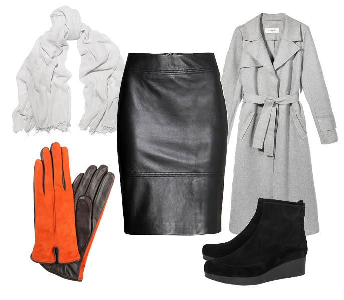 Выбор ELLE: пальто Reserved, ботинки Robert Clergerie, шарф Étoile Isabel Marant, перчатки Sermoneta