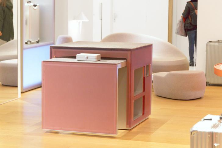 Розовый бутик Rimowa в Bon Marché по дизайну Snøhetta (фото 7)