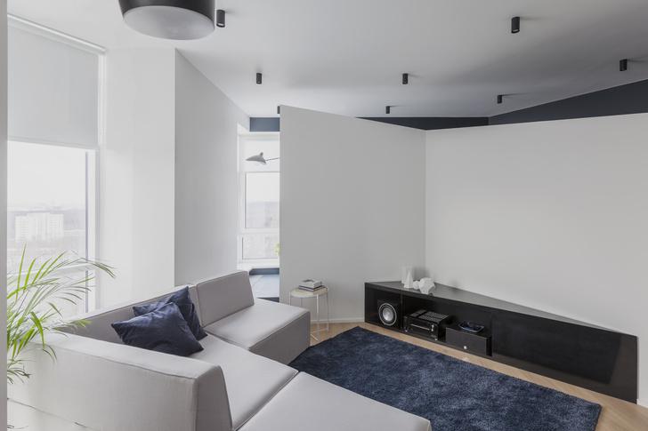 Ломаная линия: нестандартная планировка квартиры 72  м² (фото 4)