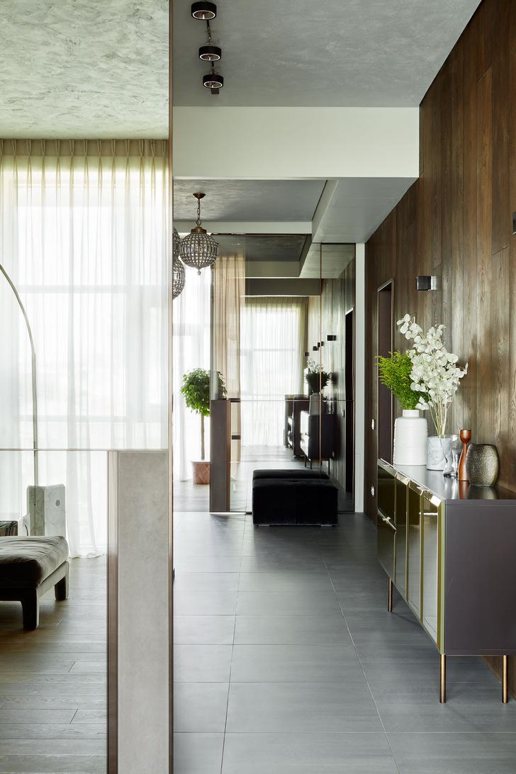 Интерьер лофта в Москва-Сити фото [9]