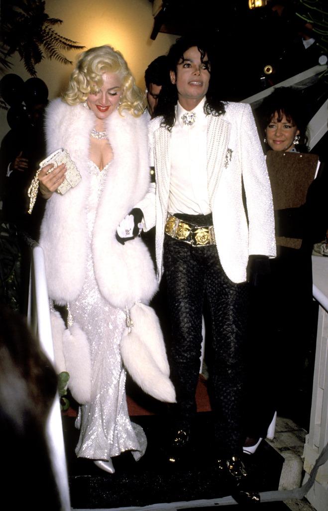 Мадонна и Майкл Джексон на церемонии «Оскар» в 1991 году