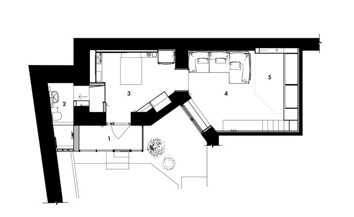 Маленькая квартира 35 м² со спальней на антресоли (фото 6)