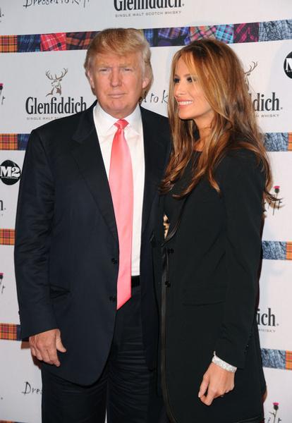 Дональд Трамп с женой Меланией Кнаусс