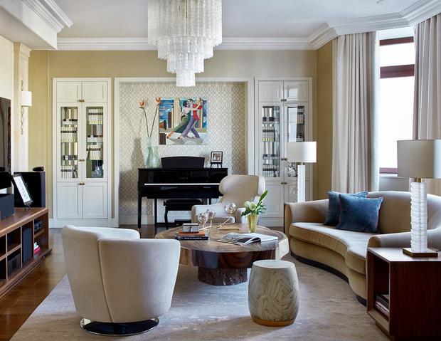 Полукруглый диван: 10+ ярких примеров (галерея 0, фото 4)